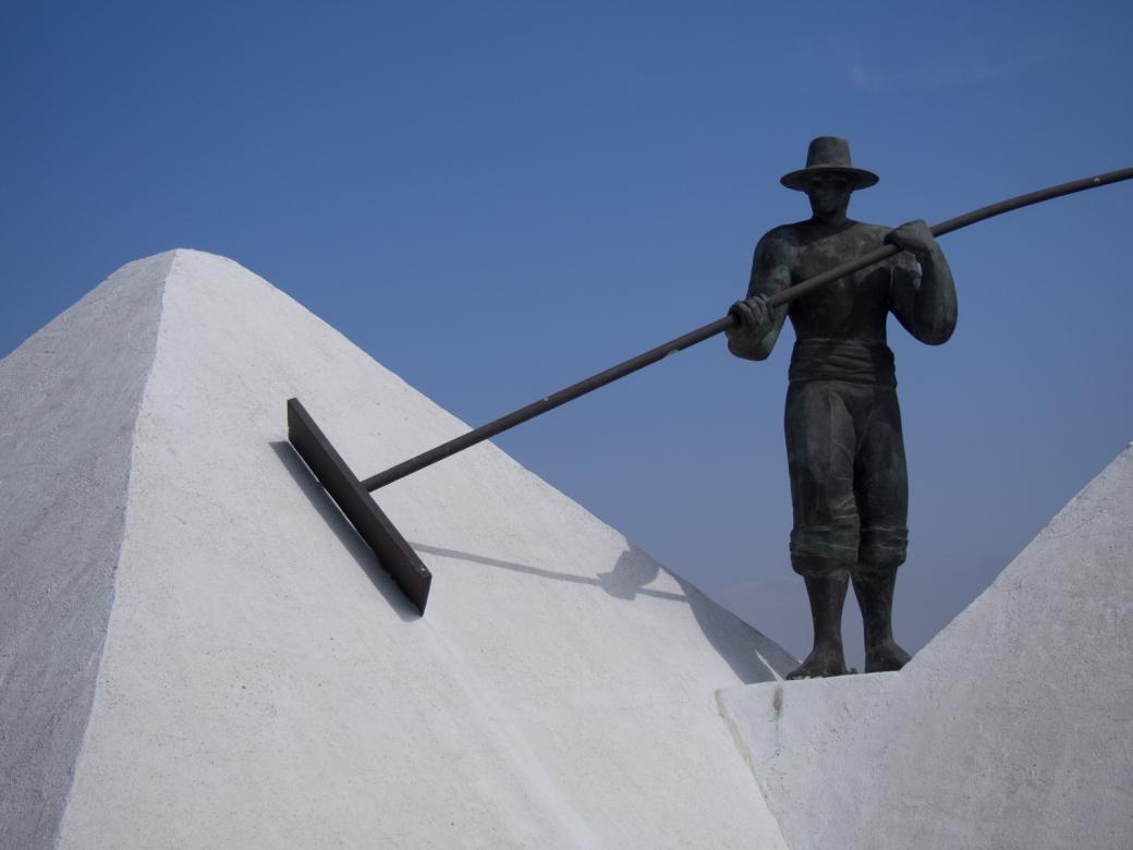Salt sculpture - Bay of Cadiz